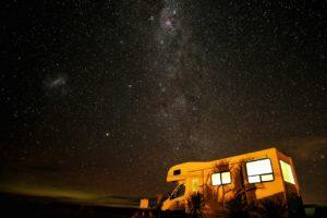 camper at night, custom RV mattresses