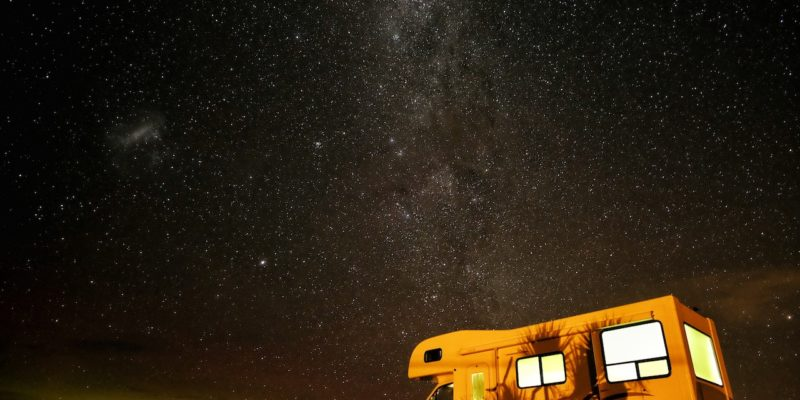 camper at night, custom RV mattresses