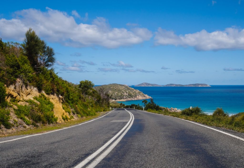 Road near the beach