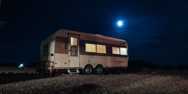 RV at night for staying cool