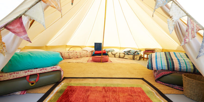 Glamping with a custom, luxury mattress